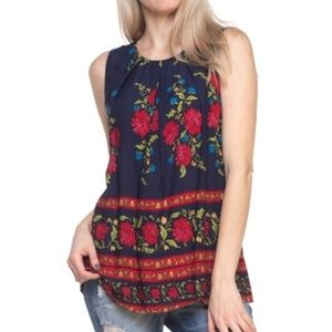 NWT Floral Print Sleeveless Top